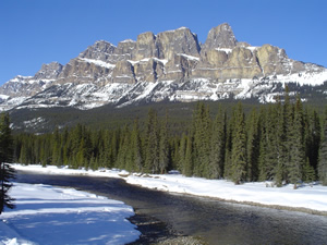 The Bow River flows through Banff National Park