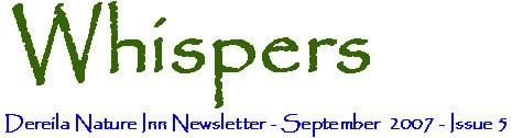 September 2007 Whispers